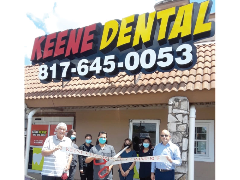 Keene Dental Ribbon Cutting